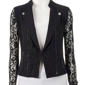Candies black lace Moto jacket
